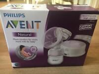 Philips Avent single electric breast pump, bottles and cups