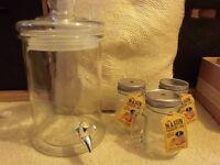 Mason drinking jars and dispensers