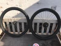 26 inch Pair of mountain bike wheels