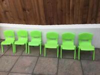 Plastic children chairs, garden , playroom
