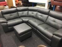New/Ex Display LazyBoy Landale Grey Corner Recliner Sofa (Left or Right Side Corner)
