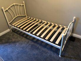 White girl's single bed