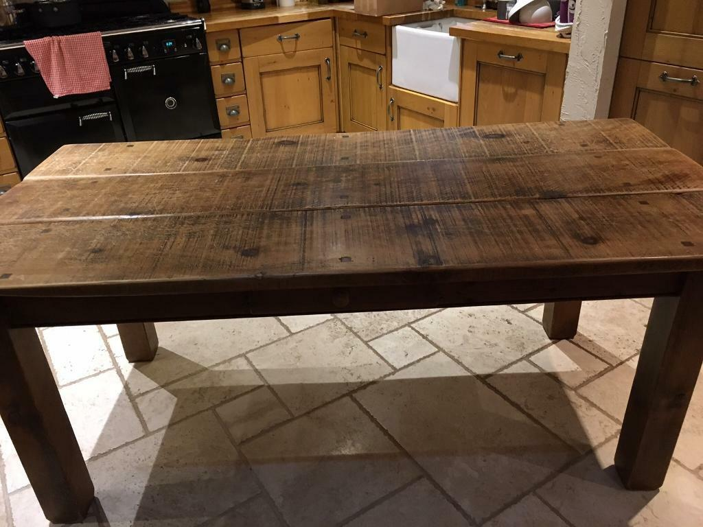 Rustic Oak Dining Table 6 Chairs Langhorns Chester