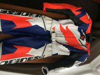 DAINESE Rock Pro 2 piece ladies motorbike leathers for sale (size 46) Excellent condition.