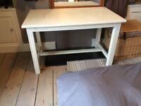 Table - shabby chic white/cream , good condition, very attractive.