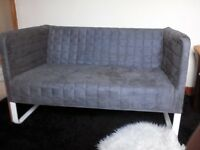 Ikea small 2 seater sofa grey