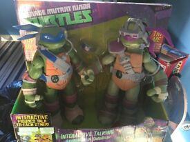 """Ninja turtles 11"""" interactive figures"""