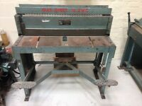A.J. Morgan and Son Sheet Metal Treadle Guillotine 100cm capacity