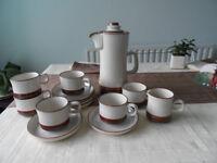 Denby coffee/tea set 6 cups/saucers/plates