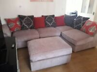 Can deliver beautiful john lewis corner sofa with large footstool very good condition