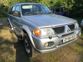 06 MITSUBISHI SHOGUN SPORT ELEGANCE 3.0 AUTO BI-FUEL LPG FULL LEATHER FULL MOT DRIVES A1 PX SWAPS