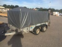 Ifor WILLIAMS GD105 cage trailer with ramp