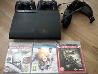 Sony PlayStation 3 - Game console - 500 GB HDD -black with built in blue ray disk drive (CECH-4003C)