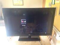 """Smashed LG 44"""" TV"""