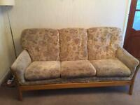 Sofa and 3 chairs