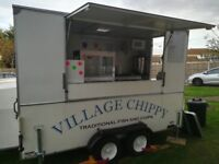mobile fish and chip trailer