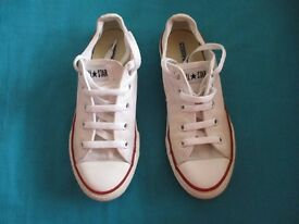 Converse Trainers White - (Size UK 1) - Excellent Condition