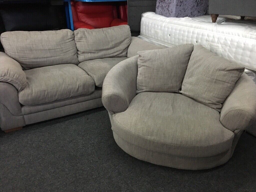 Fabulous New Ex Displays Dfs 2 Seater Sofa Swivel Love Cuddel Chair 70 Off Rrp In Leeds City Centre West Yorkshire Gumtree Caraccident5 Cool Chair Designs And Ideas Caraccident5Info