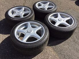 Brock B1 alloy wheels, 5x112, Vw T4, passat merc audi with tyres