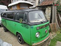 VW campervan T2 baywindow tax exempt with new engine and 12 months MOT