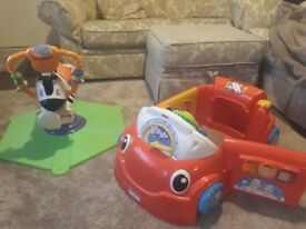 Fisher Price bundle zebra bounce and activity car