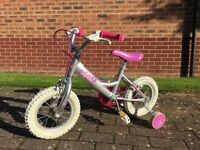"Dawes First bike with stabilisers 12"" Aluminium hardly used"