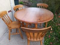 Drop leaf circular dining table (not chairs!)