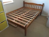 Pine wood Double Bed frame in very good condition