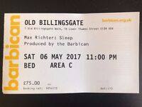 1 ticket for Max Richter: Sleep 6 May