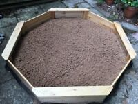 1.8 metre Sandpit with sand & cover - Almost Brand New