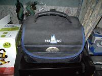 black outdoor camera bag