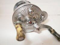 antique vintage fishing reel with original line