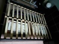 Double bed, Mattress, cabinet fridge & freezer, foldable exercise bike.
