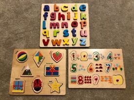 Wooden learning toys