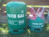 2 patio gas bottles