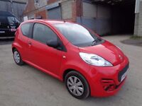 2013 PEUGEOT 107 1.0cc ACCESS RED 3 DOOR HATCHBACK VERY LOW MILEAGE