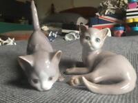 Bing & grondahl kittens rare models 2517 & 2514