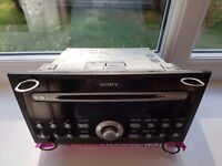 6 cd sony car radio player with code and keys.