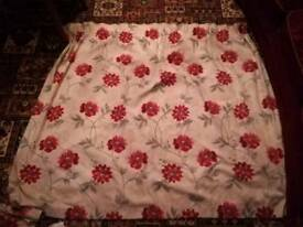 Floral fully lined curtains 66x54inch