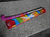 Child's hockey stick with bag