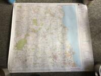 Ordnance survey maps overprinted with powerline and obstruction features