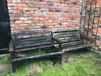 2 FREE wooden benches