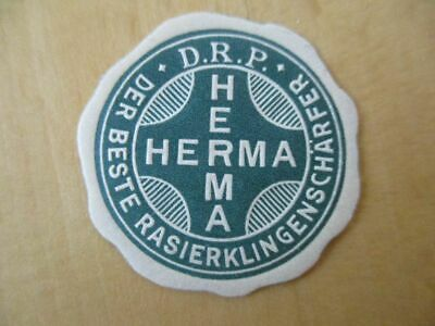 (1302) Reklamemarke / Vignette HERMA der beste Rasierklingenschärfer