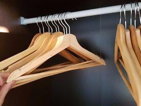 26 Wooden Coat Hangers