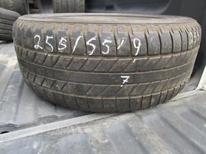 SINGLE ONLYUSED 255/55R19 GOODYEAR TIRE