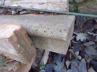 -5 Precast concrete steps.