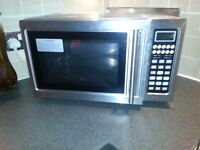M&S Stainless steel microwave oven 900w