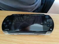 Sony PSP with charger and Memory Stick