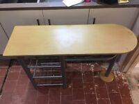 Narrow desk with storage