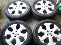 "Set Genuine wheels Vauxhall 16"" 4x100 Vectra Corsa Combo Astra Tyres 205/55/16"